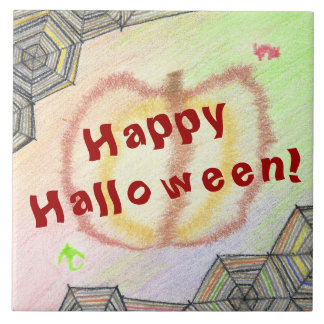 Happy Halloween! Playful Colorful Tile