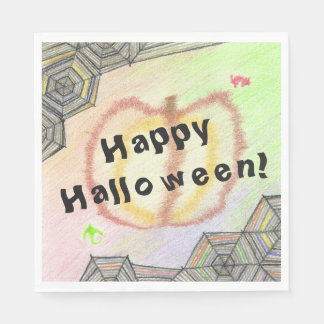 Happy Halloween! Playful Colourful Set of Napkins Disposable Napkin