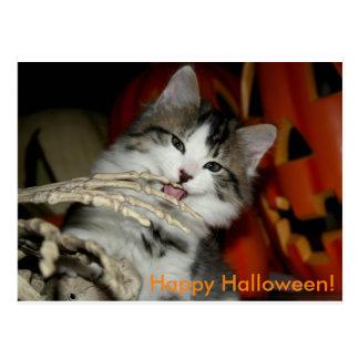 Happy Halloween postcard (finger licking)