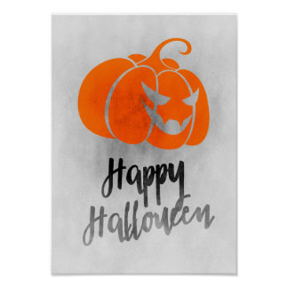 Happy Halloween Poster - Grunge Halloween Art