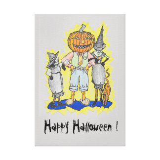 Happy Halloween printed picture Canvas Print