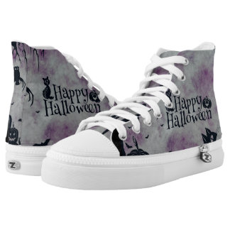 Happy Halloween Printed Shoes