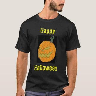 Happy Halloween Pumpkin Art Black T-shirt