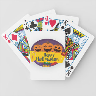 Happy Halloween Pumpkin Bicycle Playing Cards