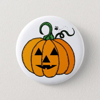 Happy Halloween Pumpkin Button