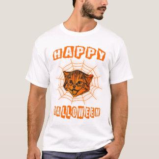 Happy Halloween Pumpkin Cat Custom Party T-Shirt
