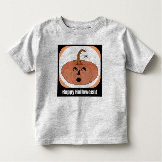 Happy Halloween Pumpkin Cross Stitch Pattern Toddler T-Shirt