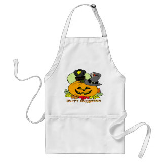Happy Halloween - Pumpkin, Crow Apron