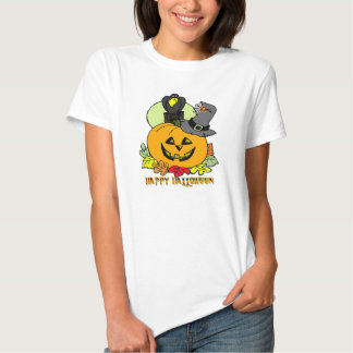 Happy Halloween - Pumpkin, Crow T-Shirt
