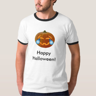 Happy Halloween Pumpkin emoji tears of joy Shirt