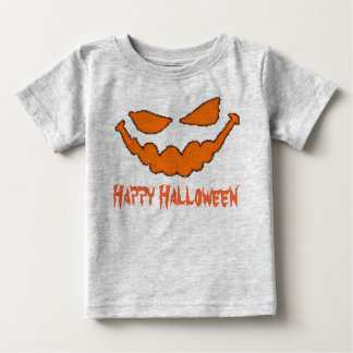 Happy Halloween Pumpkin Face Infant T Tee Shirts