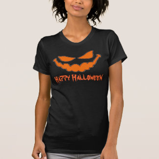 Happy Halloween Pumpkin Face Ladies T T-Shirt