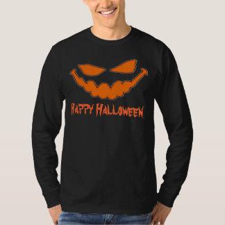 Happy Halloween Pumpkin Face Long Sleeve T-Shirt