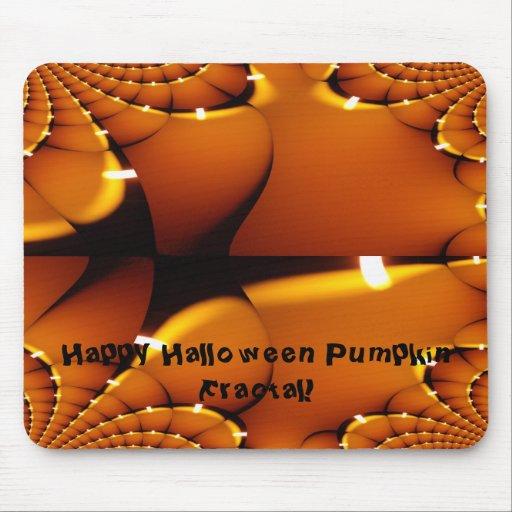 Happy Halloween Pumpkin Fractal Mousepads