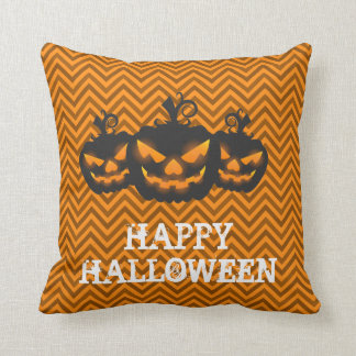 Happy Halloween Pumpkin Ghost Cushion