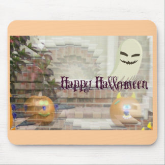 Happy Halloween Pumpkin & Ghost Illusion Mouse Pad