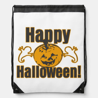 Happy Halloween Pumpkin Ghosts Trick Or Treat Bag Backpack