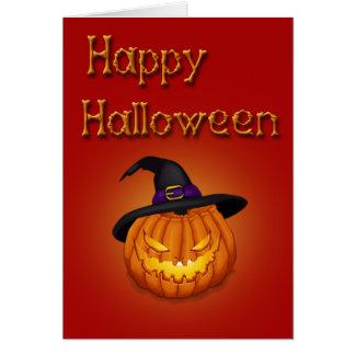 Happy Halloween Pumpkin - Greeting Card