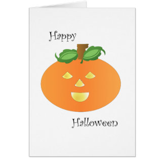 Happy Halloween Pumpkin Greeting Cards Greeting Card