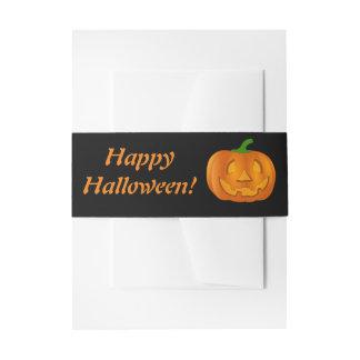 Happy Halloween Pumpkin Invitation Belly Band