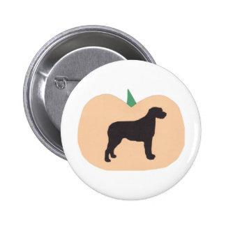 Happy Halloween Pumpkin Irish Wolfhound Pins