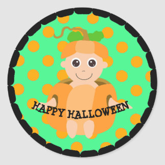 Happy Halloween Pumpkin Kid Stickers