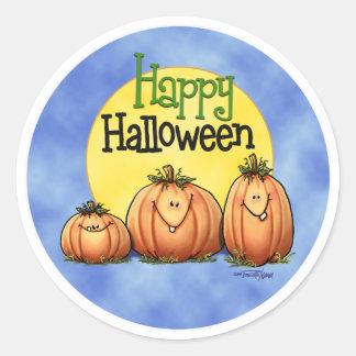 Happy Halloween Pumpkin Patch Round Sticker