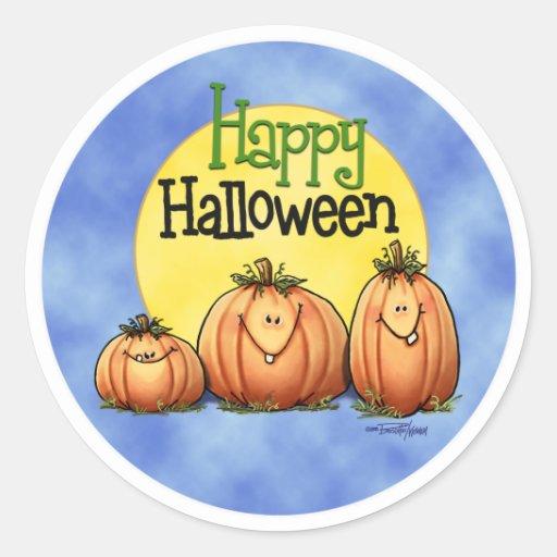Happy Halloween Pumpkin Patch Sticker