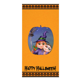 Happy Halloween Pumpkin Photo Card Template