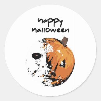 Happy Halloween Pumpkin Round Sticker