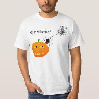Happy Halloween Pumpkin & Spider Tees