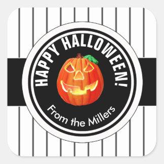 Happy Halloween Pumpkin Square Sticker