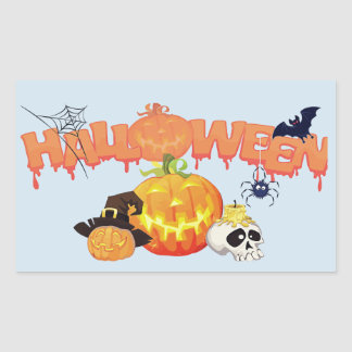 Happy Halloween Pumpkin Stickers