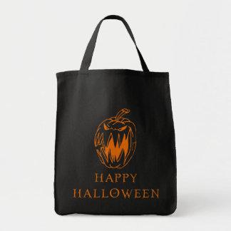 Happy Halloween Pumpkin Tote Grocery Tote Bag