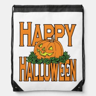 Happy Halloween Pumpkin Trick Or Treat Costume Bag Backpack