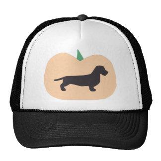 Happy Halloween Pumpkin Wire Hair Dachshund Trucker Hat