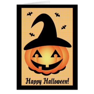 Happy Halloween - Pumpkin Witch Card