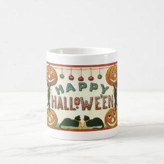 Happy Halloween Pumpkins and Cats Morph Mug