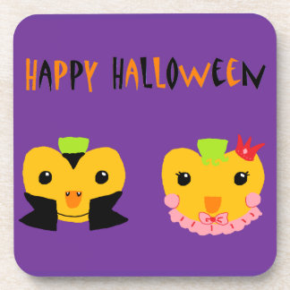 Happy Halloween Pumpkins Coasters