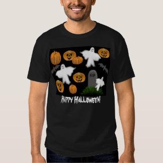 Happy Halloween Pumpkins Ghosts T-Shirt