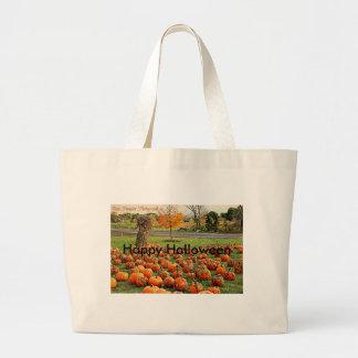 Happy Halloween Pumpkins Jumbo Tote Bag