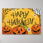 Happy Halloween Pumpkins Poster