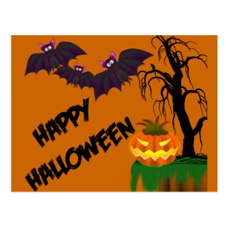 Happy Halloween Recipe Card Postcard