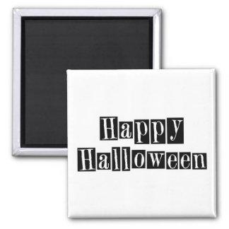 Happy Halloween Retro Blocks Square Magnet