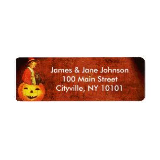 Happy Halloween!! Return Address Label