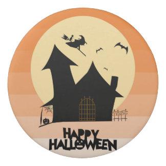 """""""Happy Halloween"""" Round Eraser"""