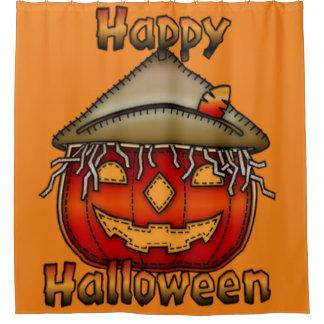 Happy Halloween Scarecrow Jack Shower Curtain