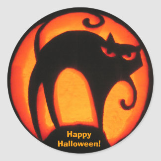 Happy Halloween! Scary Cat Sticker