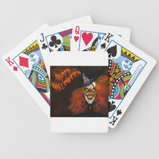 Happy Halloween Scary Clown Bicycle Playing Cards