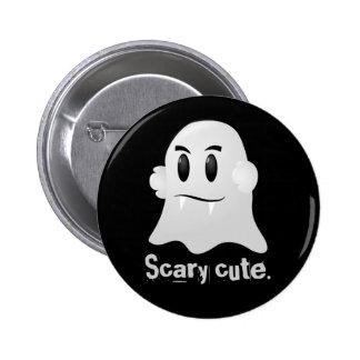 Happy Halloween scary cute kawaii vampire ghost Pinback Button